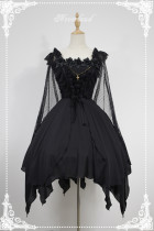*Neverland*Spectre Ballet gothic style Irregular skirt trimp JSK dress