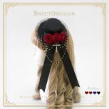 Sweetdreamer Seven sins: haughty Rosebead chain Goth Lolita Hat