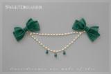 Sweetdreamer Cedar bow water drop Lolita chest chain
