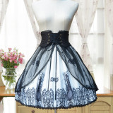 Sweet lolita Vintage lolita cross print skirt