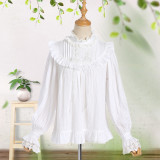 2018 S/S New Sweet Lolita Long Bubble Sleeved Chiffon Shirt/blouse