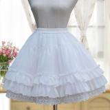 2018 S/S New Chiffon Skirt LOLITA Bottom A-line Short Skirt Hard Nets petticoat