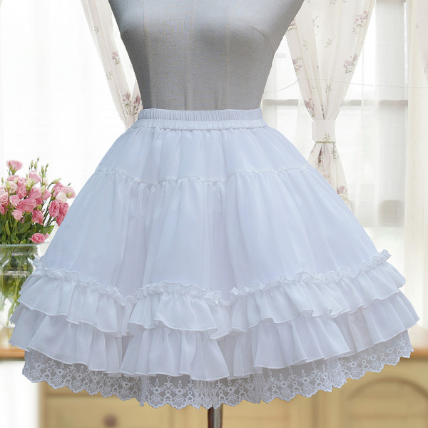 2018 S/S New Chiffon Skirt LOLITA Bottom A-line Short Skirt Hard Nets petticoat