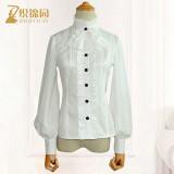 Lolita chiffon lace vintage high-collar  long-sleeves shirts
