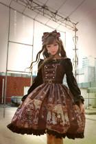 *Neverland* Steam punk cat Normal waist triple-breasted dress
