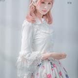 Lolita Silk Cotton Lace  Trumpet Long Sleeve  Shirt