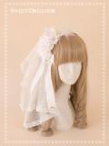SweetDreamer Black Swan Rose Feather Yarn Lolita Hairband/headband