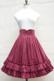 2018 Spring and Autumn velvet lolita skirt girls daily bottom skirt