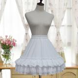 Lolita summer chiffon skirt daily lolita petticoat