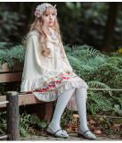 Lolita's cherry print dress, sweet Lolita dress, jsk Sling skirt