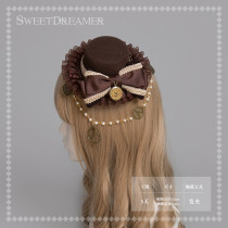 Sweetdreamer Steam Age Watch Gear Steam Punk Ball Chain Lolita Little Top Hat