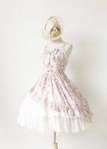 *Neverland*Antique clock Sweet lolita Slanting Cake chiffon jsk dress