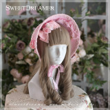 Sweetdreamer White Star Princess Pearl Butterfly tie Lolita bonnet/ hat sunshade