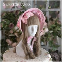 Sweetdreamer White Star Princess Pearl Butterfly tie Lolita bonnet/ hat sunshade