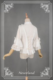 *Neverland*Secret garden A small vertical collar shirt with short sleeve and lotus leaf edge