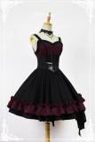 *Neverland* Flaming Angel Night Punk style Irregular skirt trimp JSK dress