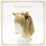 Sweetdreamer Shepherd Valley Autumn and winter small antlers Lolita hair band hair clip hair brooch