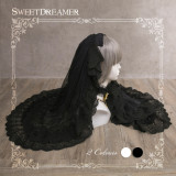 Sweetdreamer Dead wood forest Vintage dark black gorgeous Lolita flower wedding yarn drape