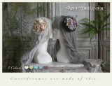 Sweetdreamer On the side of Goddess   Vintage Oil painting sense of Rose Hydrangea Ball Hairpin and brooch