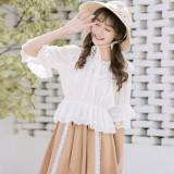 Sweet lolita style  loose horn sleeves cutie blouse/shirt