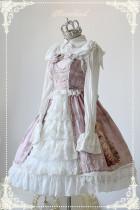 *Neverland* Sweet lolita Slanting Cake chiffon jsk dress