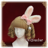 SweetDreamer Baby Rabbit Cute Plush Rabbit Ear Lolita Hair Clip Hairband