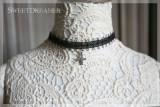 Sweetdreamer Dark black fantasy water diamond cross Lolita necklace suit