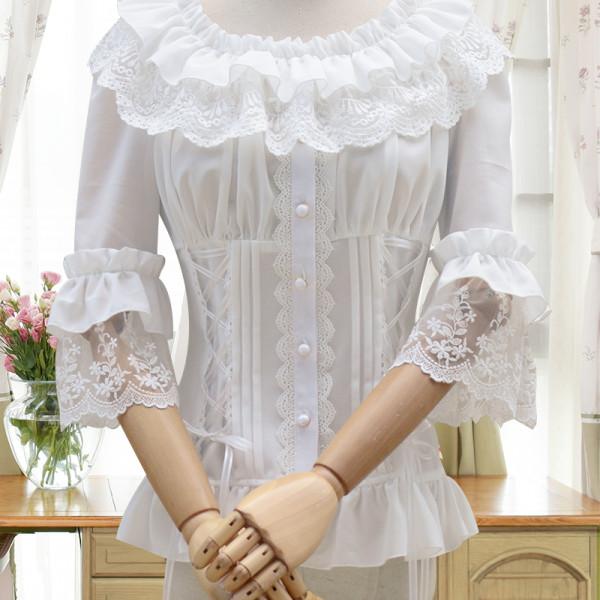 Lolita blouse Trumpet Sleeved  Daily Lolita New Shirts