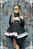 *Neverland* Flaming Angel Night Punk style Irregular skirt trimp JSK dress