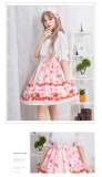 Lolita Summer Cherry Strawberry Printed  Skirt
