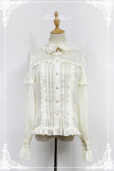 *Neverland*Odelia chiffon stand collar horn sleeve lolita shirt