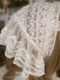 Sweetdreamer Victoria cotton lace hand-stitched Pearl Vintage shawl