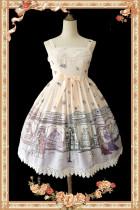 【Infanta】Lolita An antique dress shop Printed JSK dress+kc