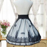 Sweet lolita Vintage lolita cross print skirt