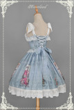 *Neverland* Sweet lolita Slanting Cake chiffon jsk dress