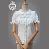 Summer's new chiffon Lolita shirt,short-sleeved inside shirts