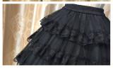 Sweet Lolita lace  3 layers of gauze skirt/petticoat