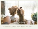 Sweetdreamer Nara's Autumn deer velvet bow lace Lolita beret artist's hat