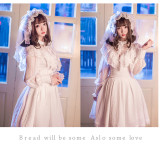 Sweet lolita long sleeves high collar vintage blouse /shirt