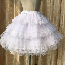 Sweet Lolita lace  3 layers of gauze skirt/petticoat