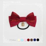 Sweetdreamer Vassilisa pearl birdcage pendant ribbed ribbon bow Lolita hair ring