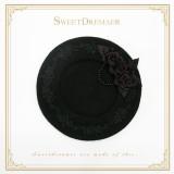 Sweetdreamer Vintage elegant autumn and winter beret wool pearl bow  brooch