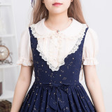 Lolita soft girl daily  dress summer fake two short sleeves sweet princess skirt