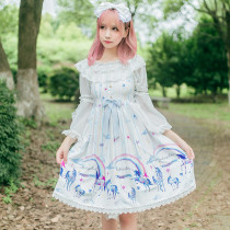 Lolita Dress Summer New Girl Unicorn JSK Daily Lolita Princess Skirt