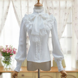 Sweet Lolita long-sleeved blouse 2018 S/A Retro Daily Girl Shirt