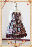 【Infanta】Lolita stationary object frame print JSK dress