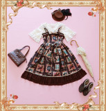 【Infanta】Lolita stationary object frame print JSK dress