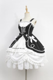*Neverland*Antique Human shape Cardigan pendulum skirt