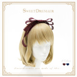 Sweetdreamer Elegant lacy laminated bow tie Lolita hairband KC