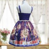 Lolita heaven garden prints dress,court retro chiffon dress